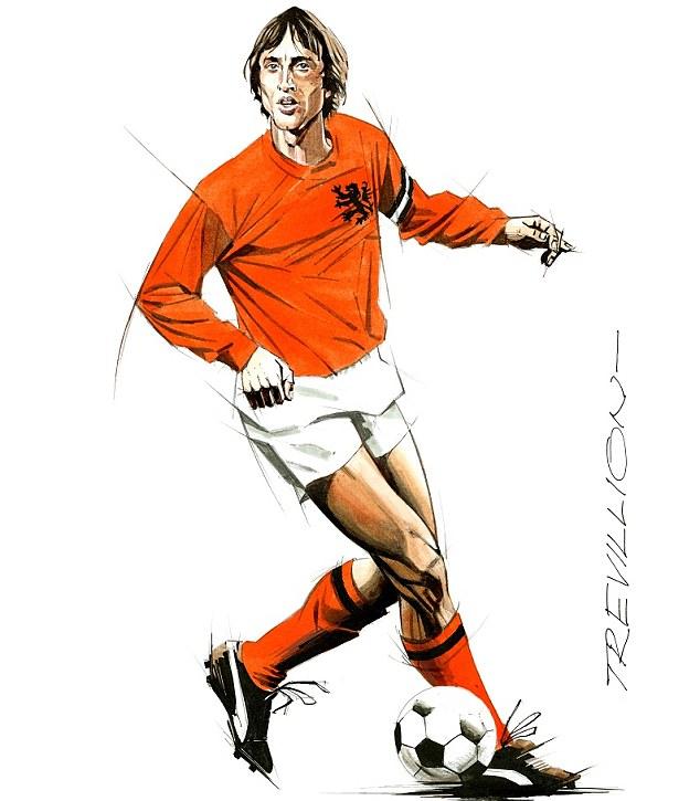 Brillaint orange: The Dutch master Johan Cruyff captured by the Master of Movement