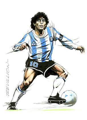 Perfect 10: Diego Maradona with the ball glued to that left foot