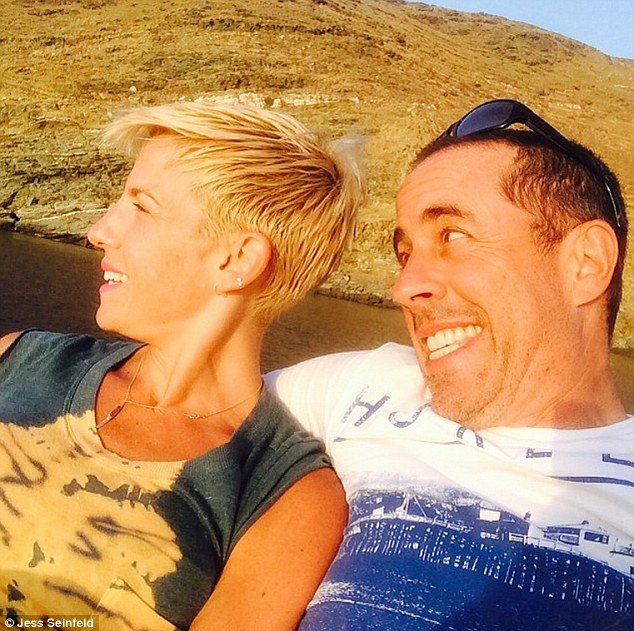 First selfie: Jerry and Jessica Seinfeld shared snaps from their vacation to Greece on Instagram on Tuesday