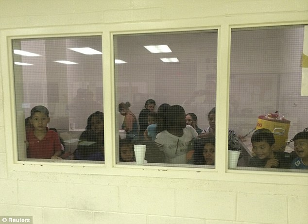 Packed in: The surge in numbers of unaccompanied children arriving has put pressure on the centers