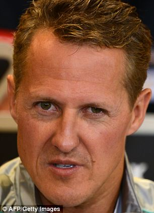 In rehab: Documents said to be Formula One legend Michael Schumacher's medical notes have been stolen, according to his manager