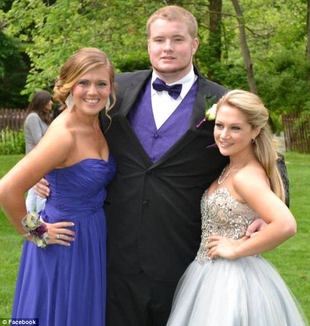 Day to remember: Rachel (right) was dressed like the princess she was accused of being in so many headlines this spring as she attended Morrison Catholic High School's senior prom in May just months after suing her own parents