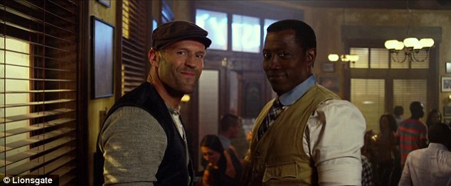 Two peas in a pod: Mainstay Jason Statham, 46, and new Expendables crewmember 51-year-old Wesley Snipes play nice with one another in the short clip