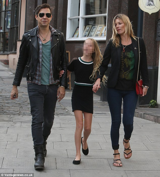 Family outing: Kate and Jamie took her daughter Lila Grace out on Wednesday