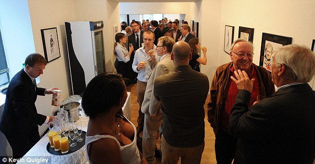 Crowd pleaser: Many of Trevillion's fans gathered for the launch night of his exhibition