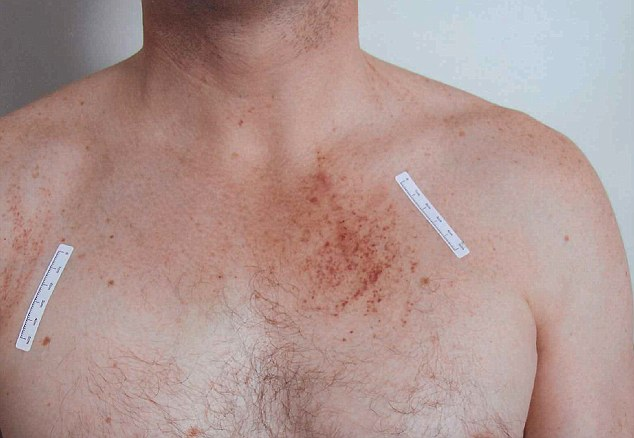 Gerard Baden-Clay's marked chest was presented to court on Wednesday