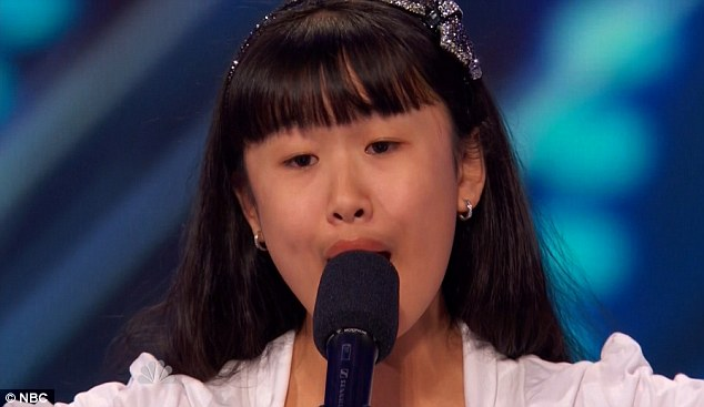 Big voice: Grace Ann Gregorio had a powerful voice that belied her age