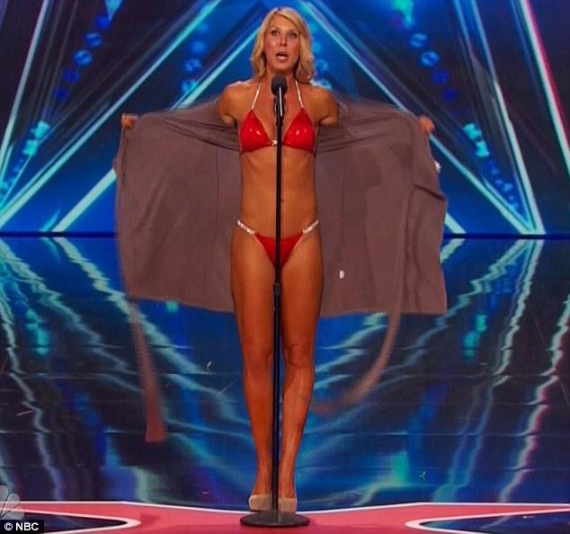 Bikini body: Maggie showcased her singing voice and body in a red bikini