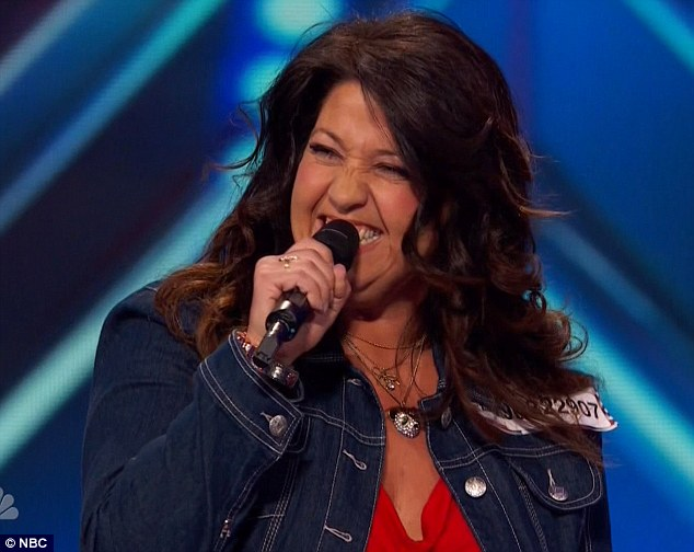 Funny lady: Rachel Buter impressed the judges with her impressions of Wanda Sykes, Rosie O'Donnell, Whoopi Goldberg and Joan Rivers