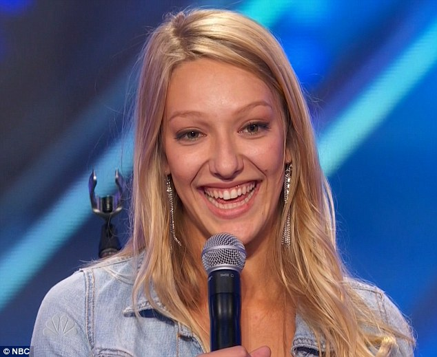 Moving on: Carly Jo Jackson advanced with her charisma and singing voice