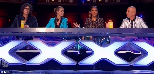 The judges: Howard Stern, Heidi Klum, Mel B and Howie Mandel evaluated the talent