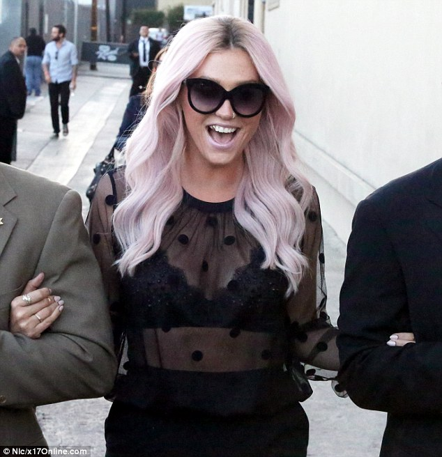 Happy: Kesha has been re-launching her music career
