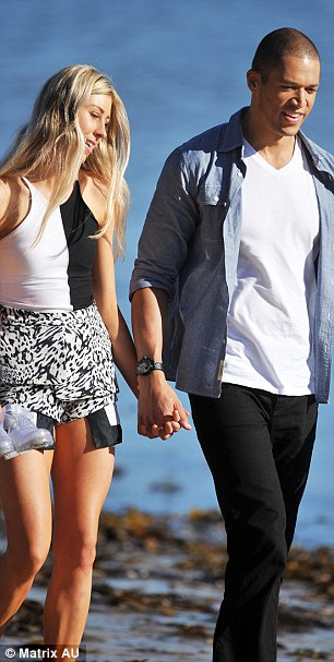 Is romance on the cards? Afterwards they enjoyed an idyllic stroll bare foot hand-in-hand