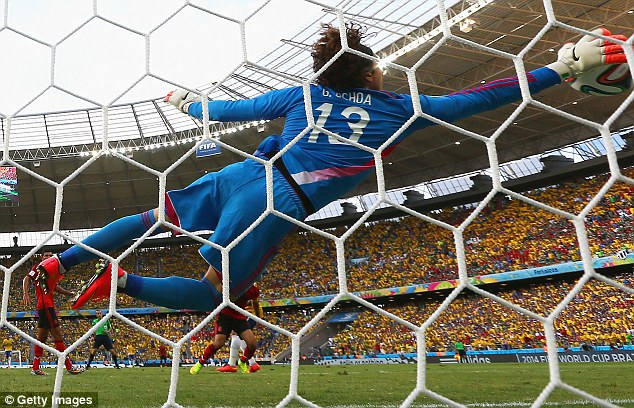 Brilliant performance: Brazil and Mexico drew 0-0 after 90 minutes of phenomenal goalkeeping by Ochoa