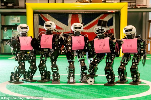 There are also a number of smaller competitive events such as the RoboCup (pictured) and contests such as the Darpa Robotics Challenge