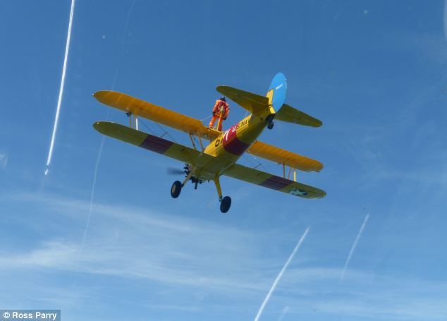 Nigel has completed two wing-walks, climbed a mountain and done a skydive for charity, raising £200,000