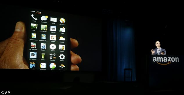 Amazon had designed its own software for the phone. There, the app grid is showing - and users can even tilt the handset to navigate through it