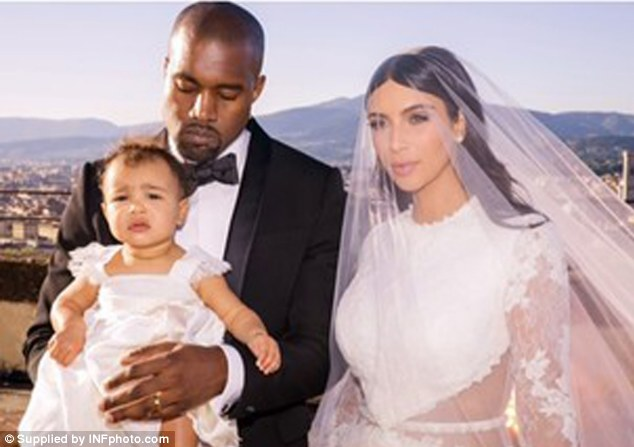 Favourite designer: Tisci created the bridal wear for the reality star, the 21-time Grammy winner, and baby North for their Florence wedding at the Forte di Belvedere on May 24