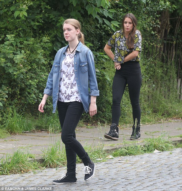 Frantic search: Pictures from Coronation Street shows that Sophie Webster and new girlfriend Maddie Heath¿s attempt to dog walk Eccles might end in heartbreak