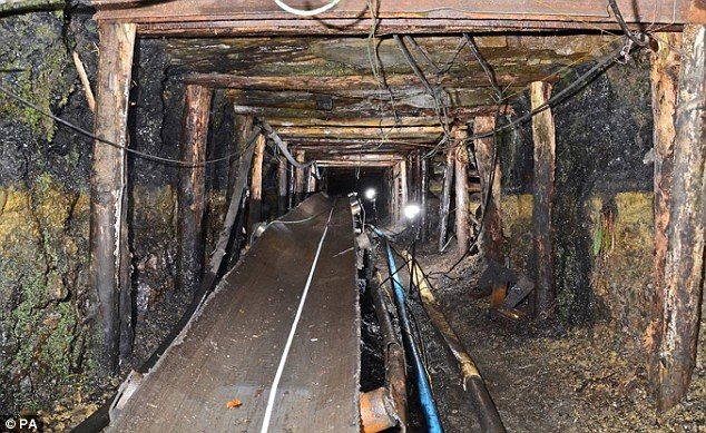 The charges were brought after explosives were set off which unexpectedly released 650,000 gallons of water underground into the Gleision drift mine, south Wales, picted. Mr Fyfield was able to crawl to safety but four miners were killed