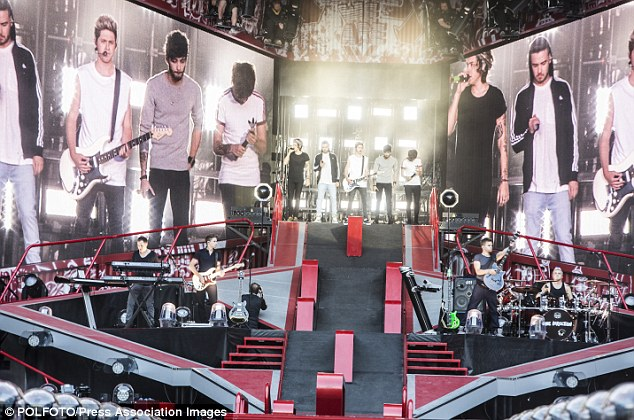 Performing for Royalty! The One Direction lads had some Royal fans in the audience of their Copenhagen concert on Tuesday