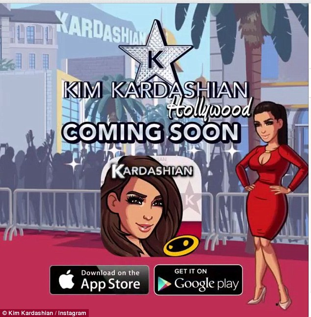 Kim's fame roots: The exciting new app is set to hit stores next week