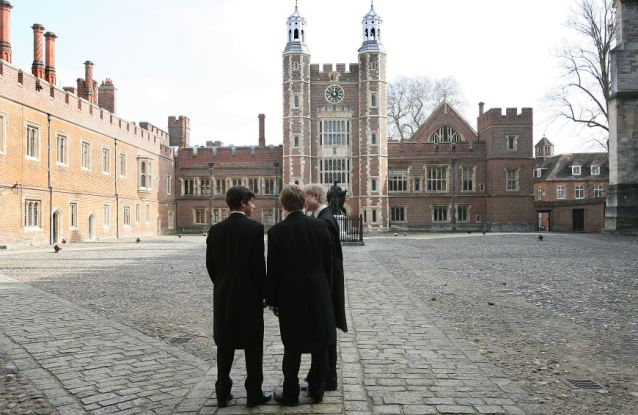 Bennett wants to see the end of this - Eton schoolboys