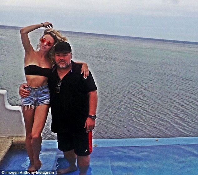 Still together: Imogen Anthony took to social media on Thursday to tell her followers how much she cherishes her three year relationship with Kyle Sandilands in a post on Instagram