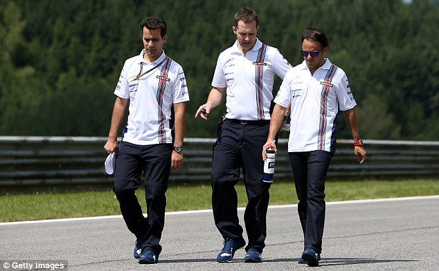 Walking the track: Massa at the Red Bull Ring on Thursday