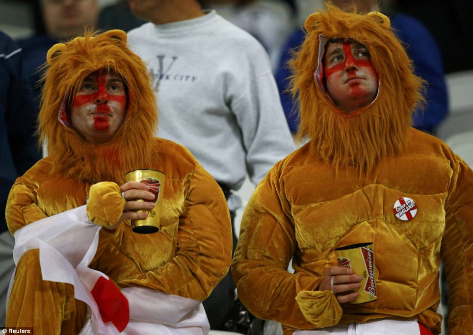The three lions: Agony but not ecstasy for these England fans who didn't see their team roar