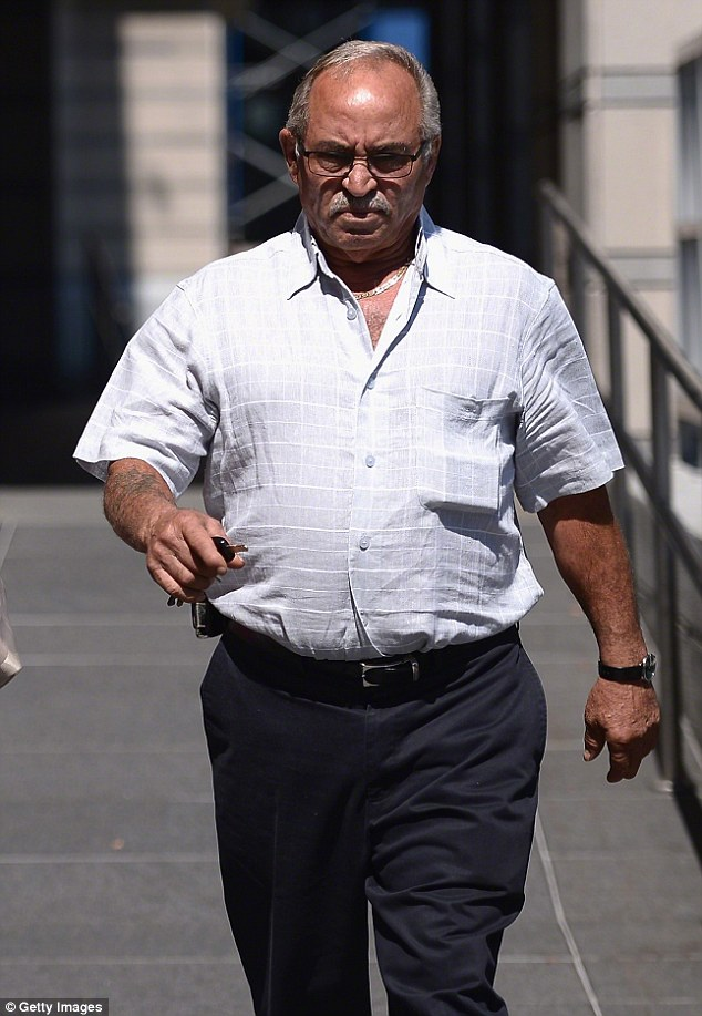 Father and grandfather: Frank, shown in July 2013 outside a New Jersey courthouse, was chasing the family dog when he collapsed and died