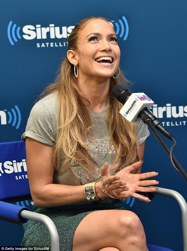 Low key: Jlo's makeup was very understated for her appearance on Thursday