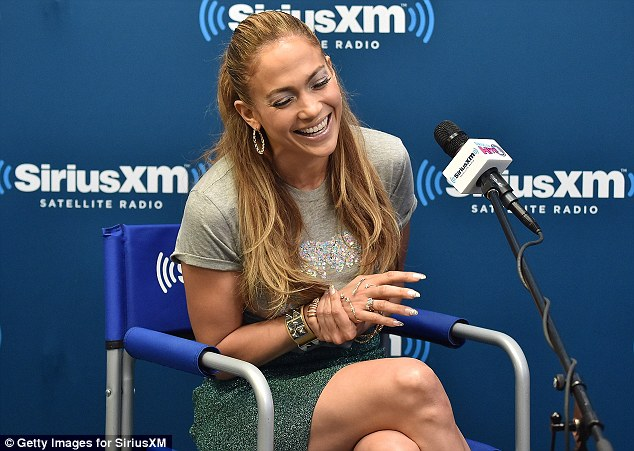 It's a gas: The star laughed her way through the interview while enthusiastically talking about her album