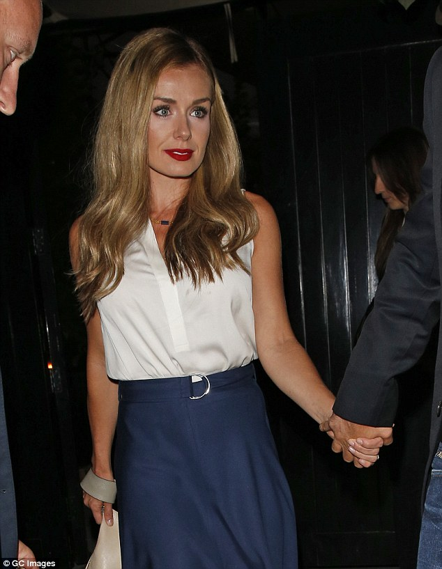 Glam: Katherine Jenkins seen leaving The Chiltern Firehouse in London