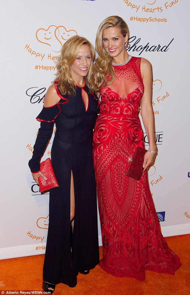 Star support: Petra poses with singer Sheryl Crow who turned out to support the foundation