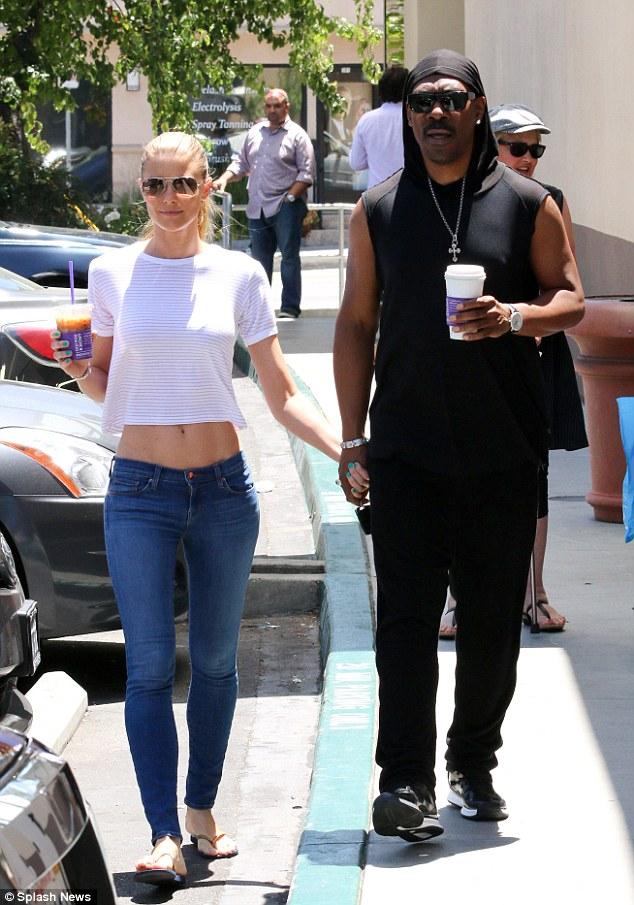Caffeine fix: Eddie Murphy and girlfriend Paige Butcher were seen grabbing coffee in Studio City on Thursday