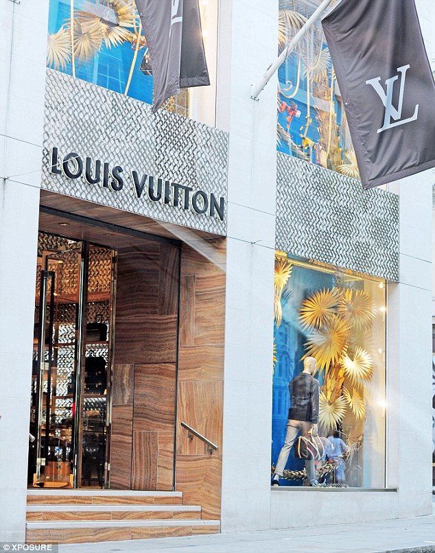 Destination point: the famous designer shop on London's Bond Street