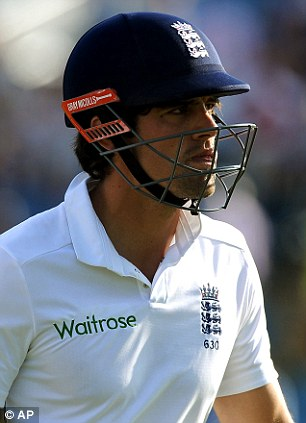 Had enough: Alastair Cook says something should be done about Shane Warne's constant criticism of his captaincy
