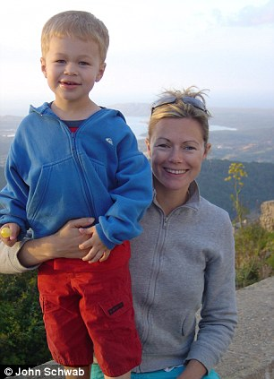 Puffy: Jack with his mother Tamsin after he was released from hospital, his eyes still puffy