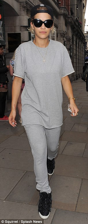 Dancing queen: Rita headed straight to the dance studio after jetting back to the UK