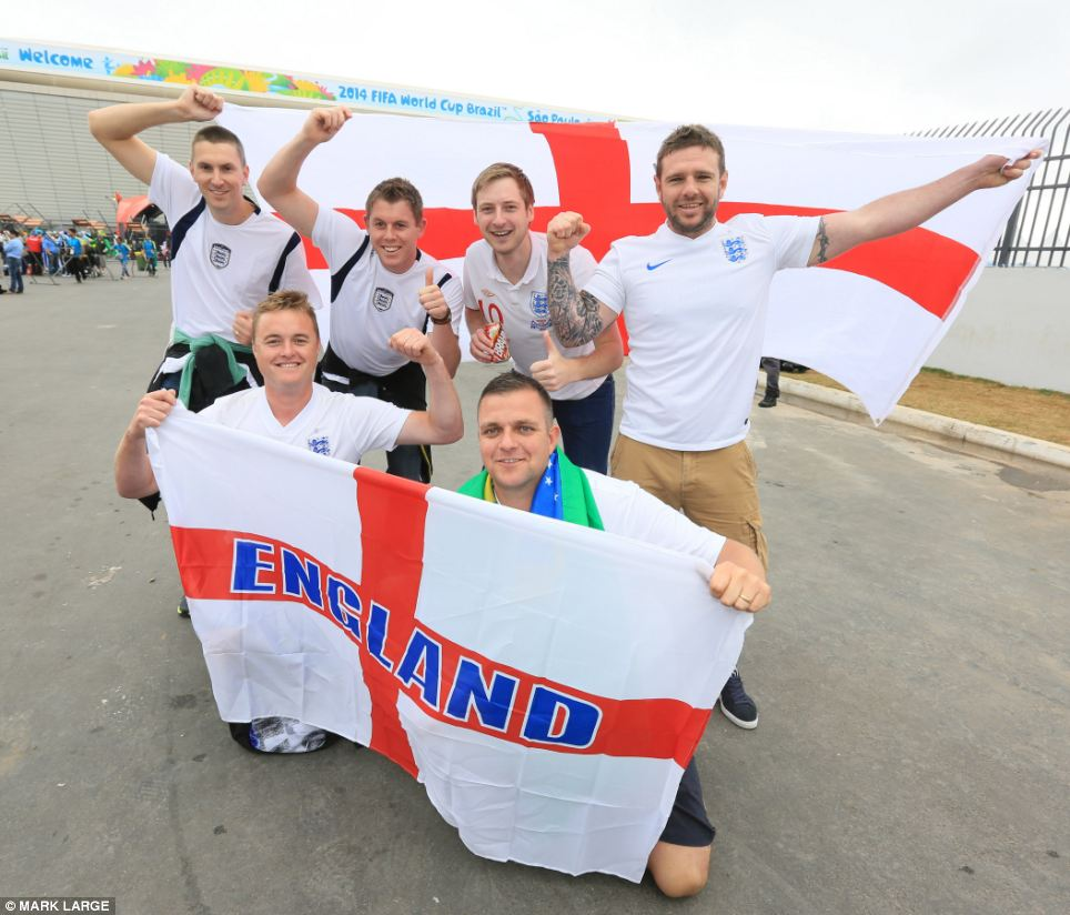 Optimism was running high among England fans outside the stadium before the game after their team performed well in their opening game