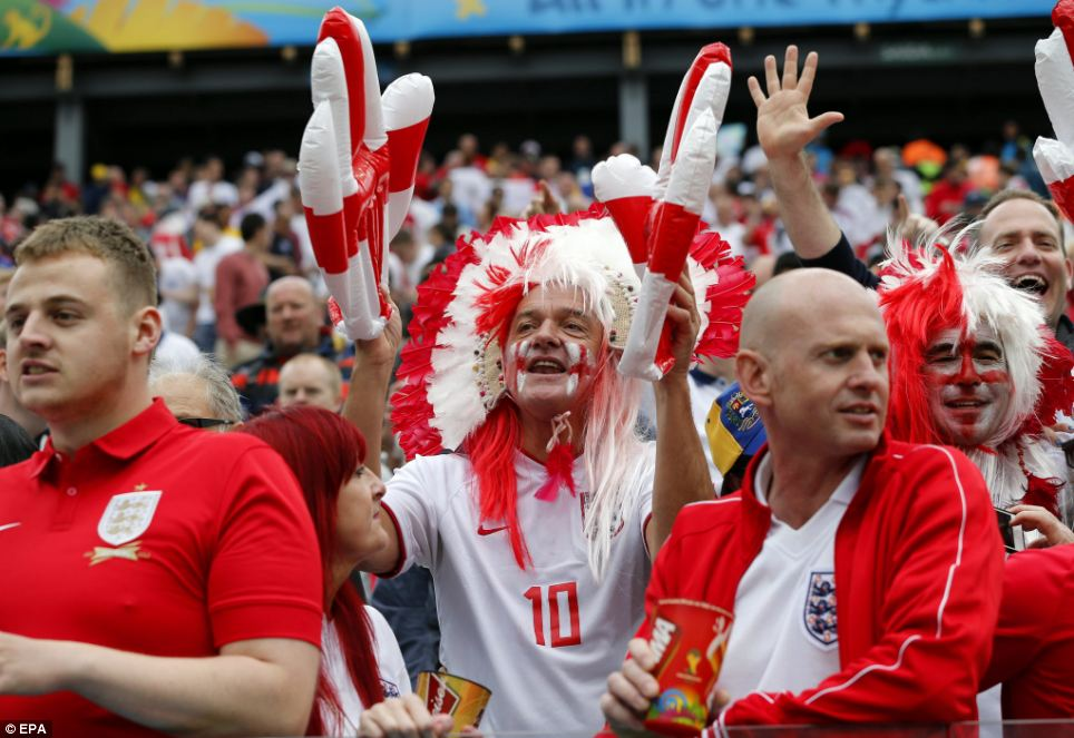 Despite a slow start, Three Lions fans were in fine voice as their team created a number of chances in the first half hour of play