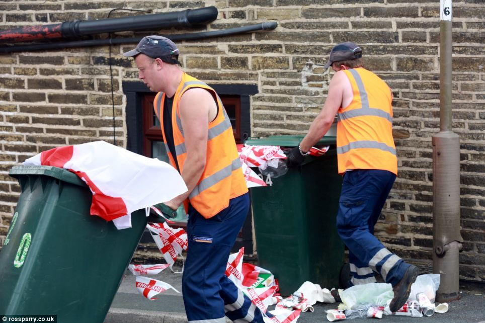 After supermarkets reported fans spending thousands of pounds on England merchandise, the goods are being discarded just one week into the tournament