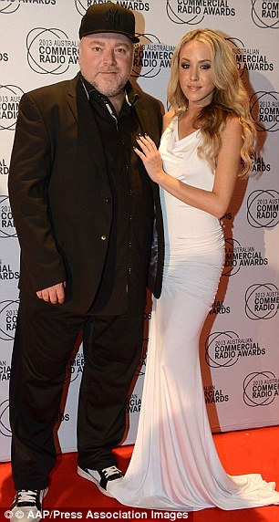 Frock-jock: Kyle and Imogen get dressed up for the Commercial Radio Awards in 2013