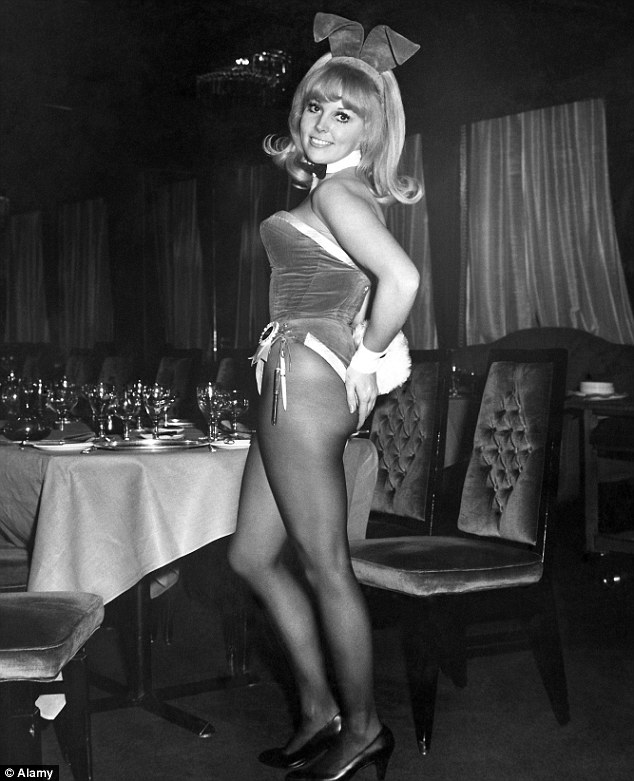 The original Playboy Bunny: All Imogen needs now is the bunny ears, cuffs and fluffy tail to impress Hugh Heffner