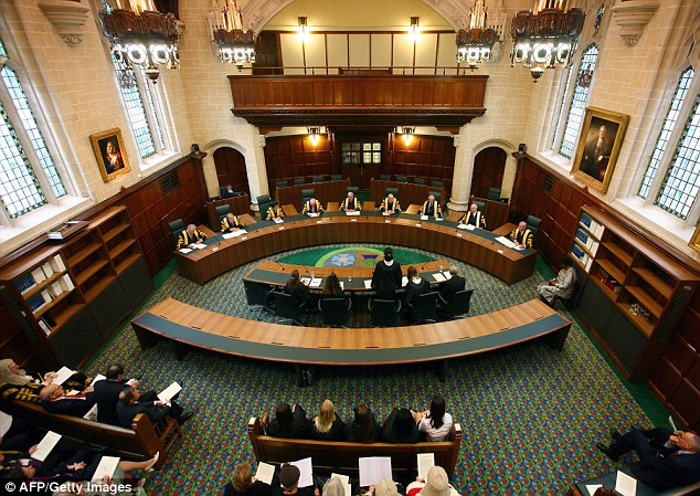 A general view of Court one during the opening of the newly renovated Supreme Court