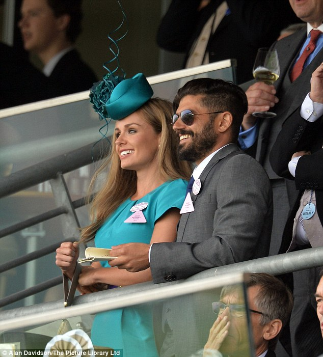 Earlier on: Katherine Jenkins and her boyfriend spent the day at Ladies Day Royal Ascot Races