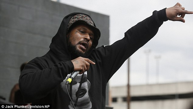 Rapper Schoolboy Q, pictured at SXSW Music Festival in Austin in March, was in a vehicle that was fired on after a concert at the popular Red Rocks outdoor amphitheatre in Colorado