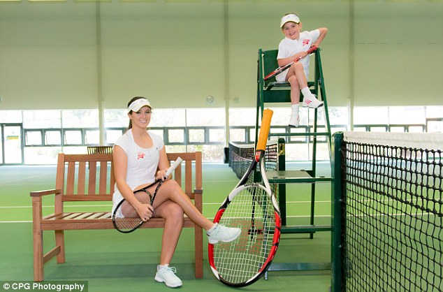 The perfect advertisement: The sportswoman has been using her down time to work with Virgin Active as their tennis ambassador recently