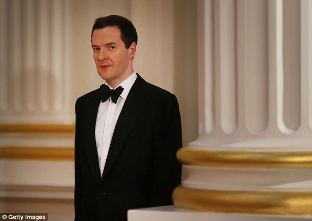 Missing the mark: Chancellor George Osborne will see the figures as a setback